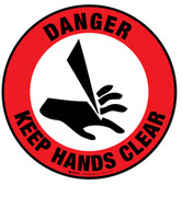 Danger Keep Hands Clear Floor Sign