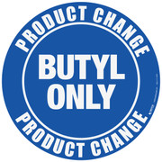 Product Change Butyl Floor Sign
