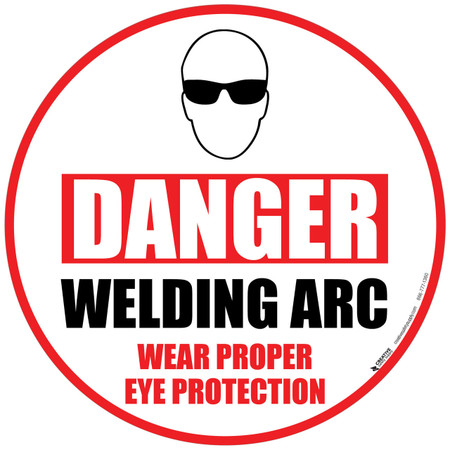 Danger Welding Arc Floor Sign
