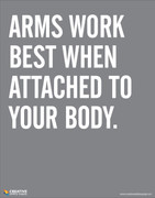 Arms Work - Safety Poster