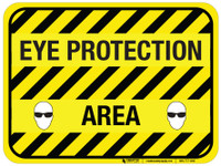 Eye Protection Area - Floor Sign