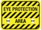 Eye Protection Area - Floor Sign