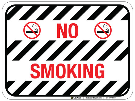 No Smoking Floor Sign