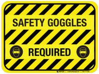 Safety Goggles Required - Floor Sign