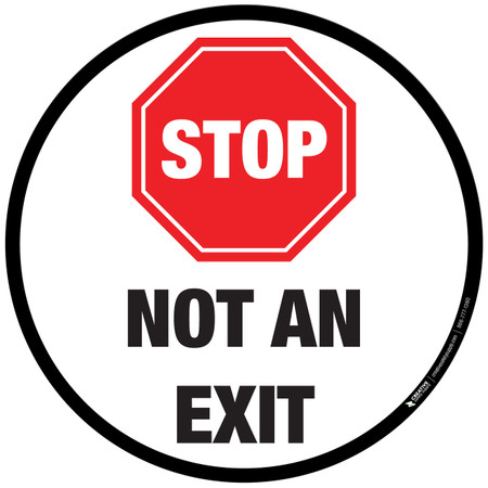 Floor Sign- Stop- Not an Exit