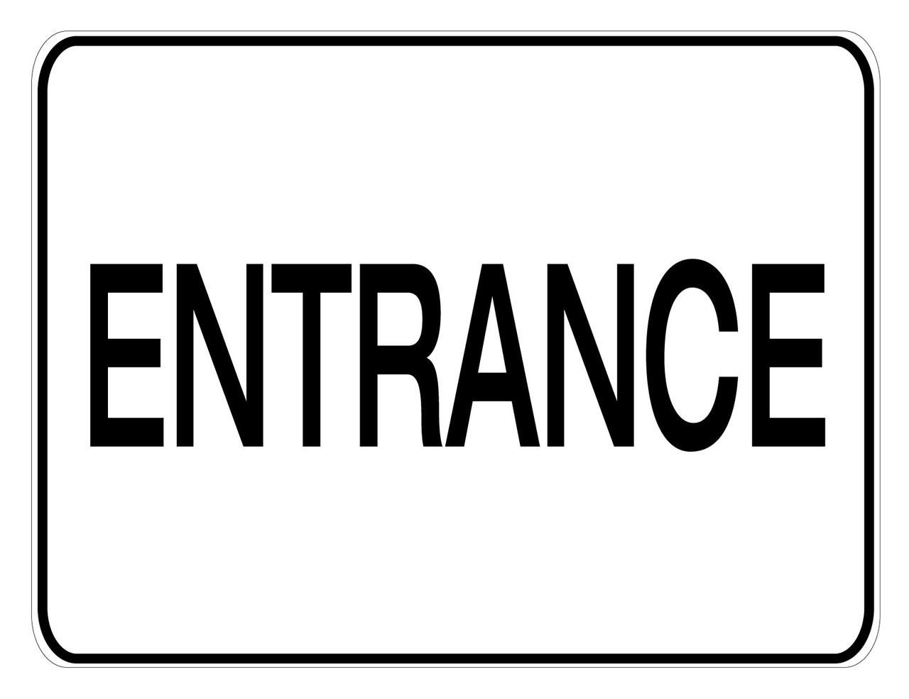 Aluminum Entrance Sign Creative Safety Supply