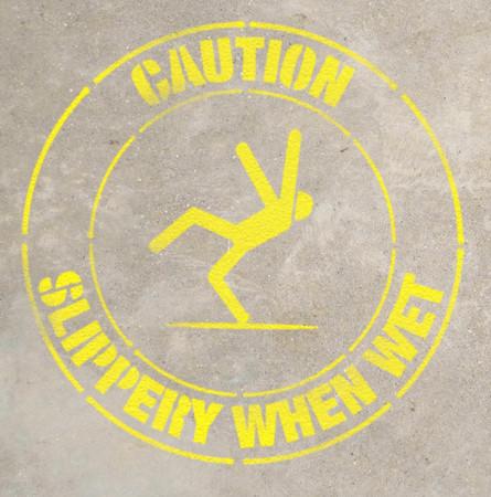 Caution- Slippery When Wet- Stencil