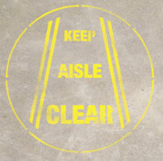 Keep Aisle Clear Stencil