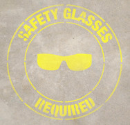 Safety Glasses Required Stencil