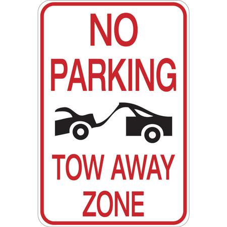 No Parking - Tow Away Zone - Aluminum Sign