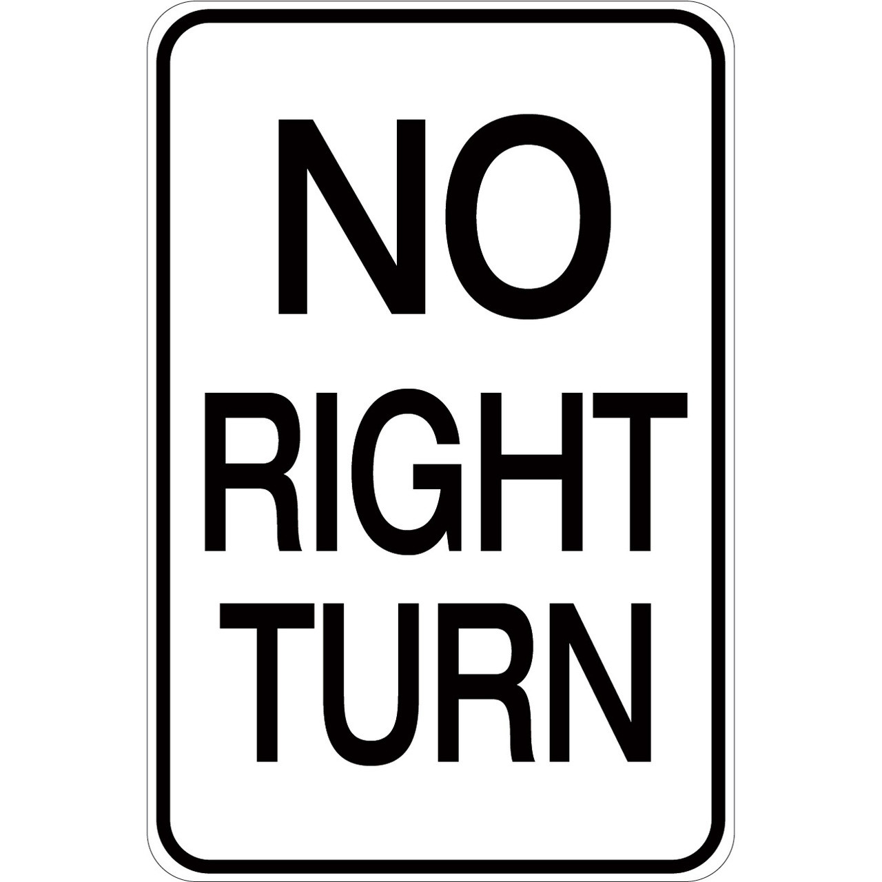 No Right Turn Aluminum Sign Creative Safety Supply