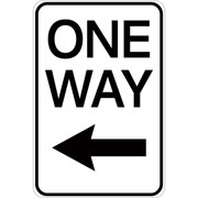 One Way (with left arrow) - Aluminum Sign