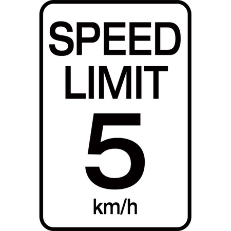Speed Limit 5 km - Aluminum Sign