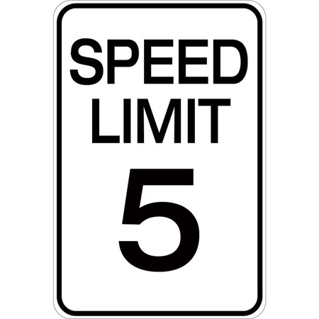 Speed Limit 5 - Aluminum Sign