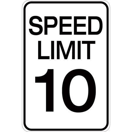 Speed Limit 10 - Aluminum Sign