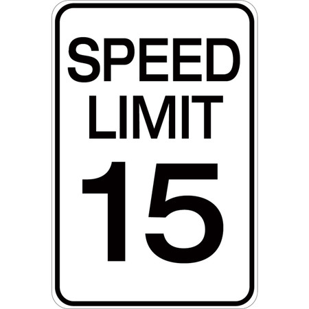 Speed Limit 15 - Aluminum Sign
