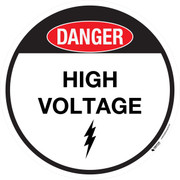 Floor Sign - Danger - High Voltage