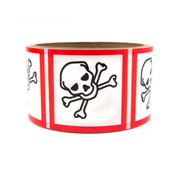 "GHS Labels 2"" Toxic"