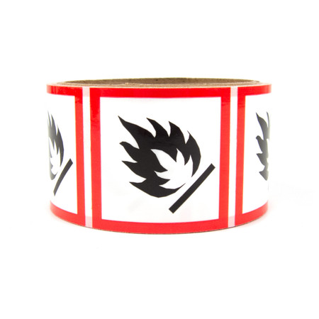 GHS Labels - Flammable 2""