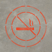 No Smoking - Stencil