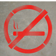 No Smoking Symbol - Stencil