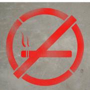 No Smoking Symbol - Stencil