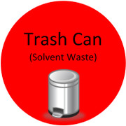 Floor Sign - Trash Can (Solvent Waste)