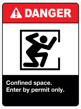 Confined Space enter by permit only