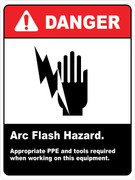Danger Arc Flash Hazard PPE required