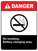 Danger No Smoking Battery Charging Area