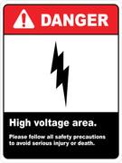 Danger High Voltage Area