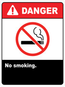 Danger No Smoking Signs