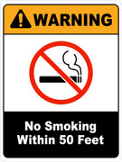 Warning No Smoking within 50 feet