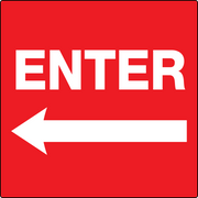 Enter sign Red with Left Arrow