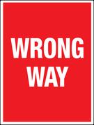 Red Wrong Way Sign