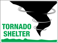 Tornado Shelter Signs
