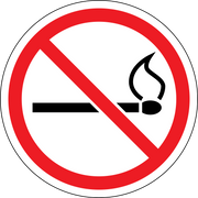 No Lighters, no matches, wall sign