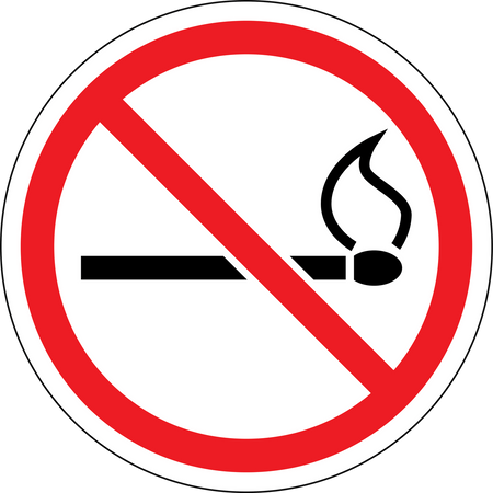 No Lighters No Matches Wall Sign