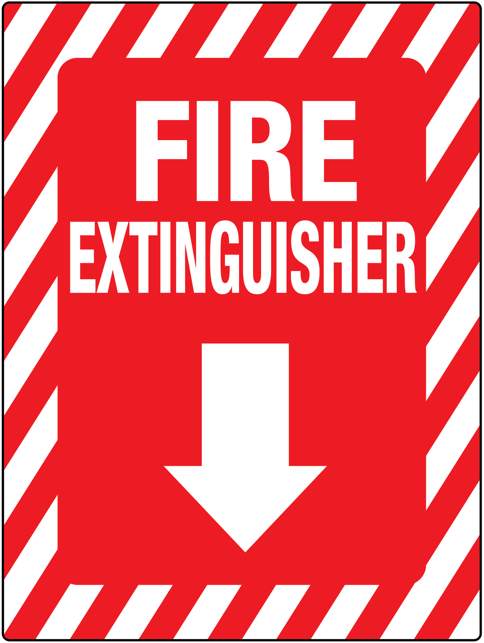 Fire Extinguisher Below Wall Sign Creative Safety Supply