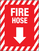 Fire hose Arrow Down/below