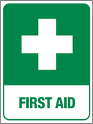 Cross First Aid Sign Green