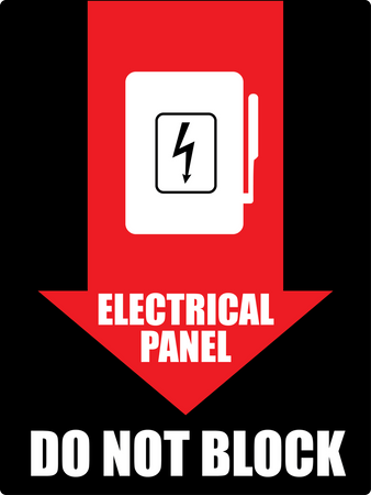 Electrical Panel Do Not Block wall sign