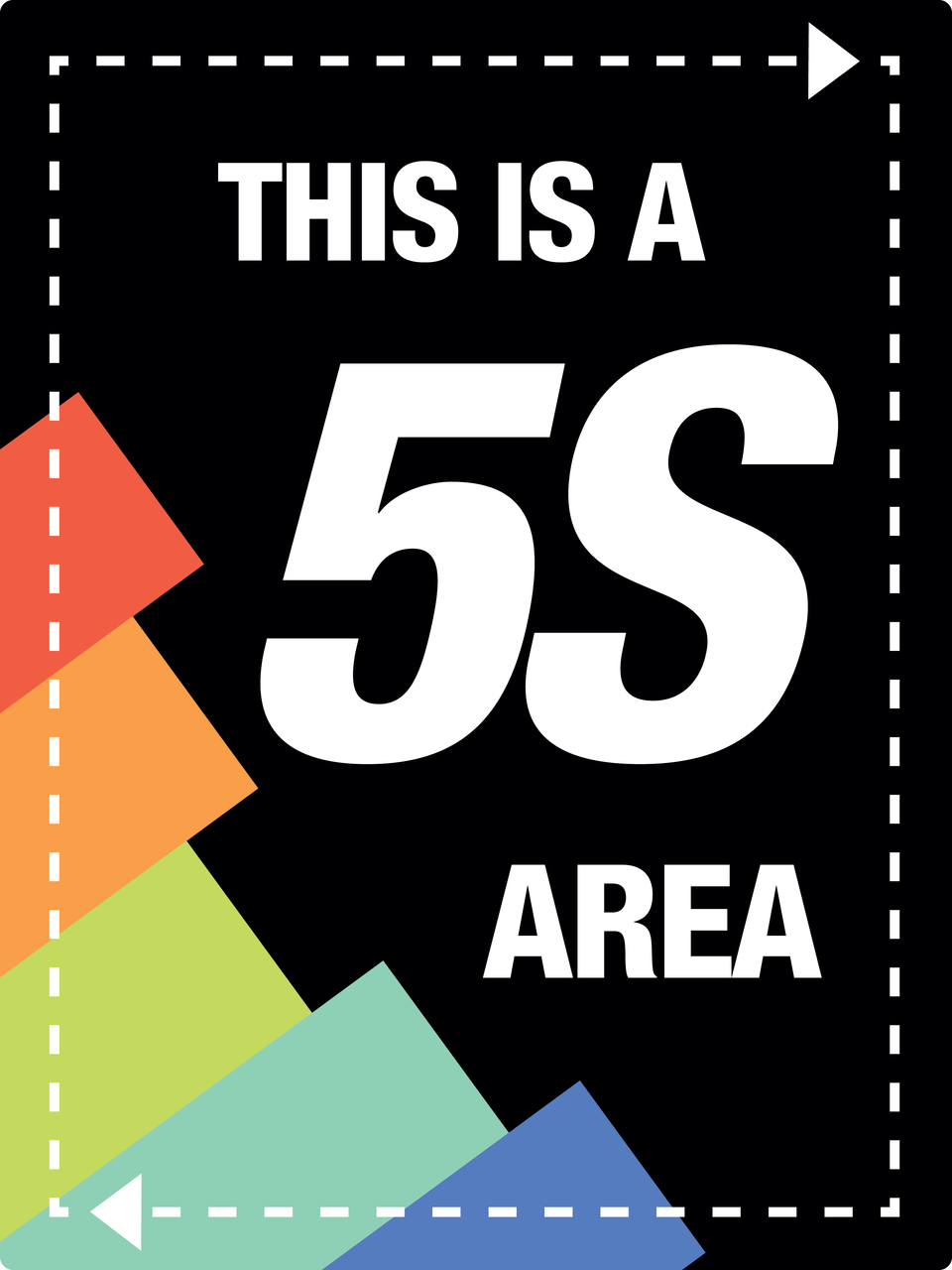 Large 5s Area Wall Sign Creative Safety Supply