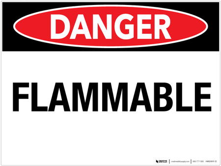 Danger: Flammable - Wall Sign