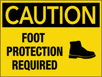 Caution Foot Protection Required