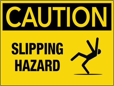 Caution Slipping Hazard Wall Sign
