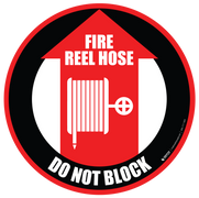 Fire Reel Hose Do Not Block