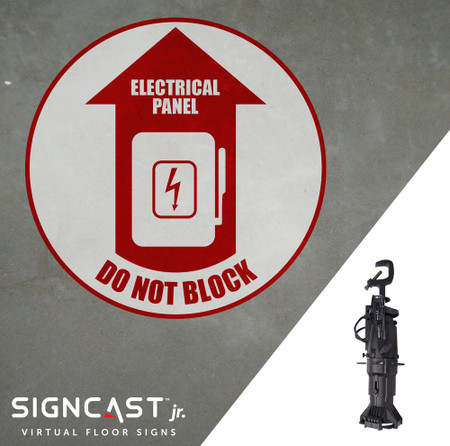 SignCast Jr. Electrical Panel Do Not Block Sign