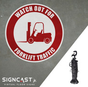 SignCast Jr. Watch Out for Forklift Traffic Sign