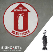 SignCast Jr. Fire Extinguisher Do Not Block Sign